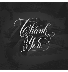 modern calligraphy thank you handwritten lettering vector image