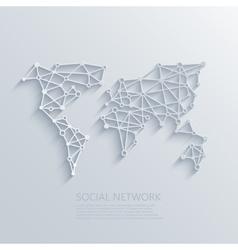 Modern social network light concept vector