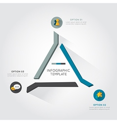 Modern triangle infographic for business project vector