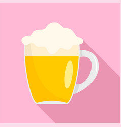 Mug of german beer icon flat style vector