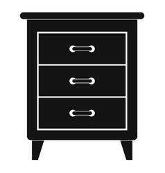night stand icon simple style vector image