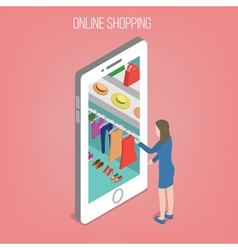 Online Shopping Concept in Isometric Style vector