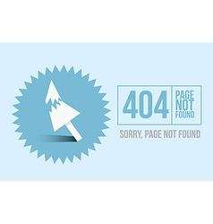 Page not found Error 404 design for website or vector image