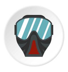 Paintball mask icon circle vector