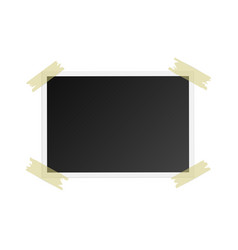 photo frame with adhesive tape isolated on white vector image