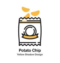 Potato chip lineal color vector