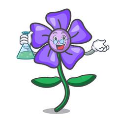 Professor periwinkle flower character cartoon vector