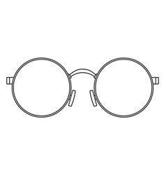 Round eyeglasses vector