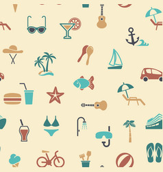 Seamless background on theme summer vector