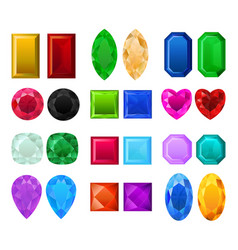 Set of realistic precious stones vector