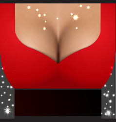 Sexy girl wearing red dress Party poster template vector image