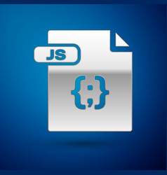 Silver js file document download js button icon vector