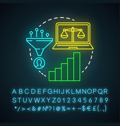 Simply decay attribution neon light icon vector