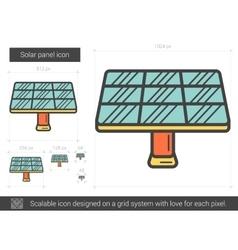 Solar panel line icon vector