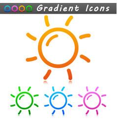 sun symbol icon design vector image