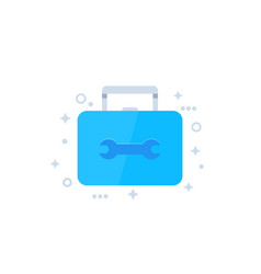 Toolbox icon flat vector