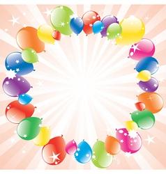 Vector festive balloons and lightburst vector