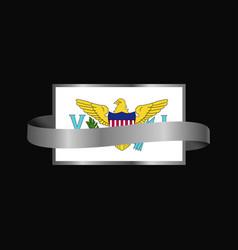 Virgin islands us flag ribbon banner design vector