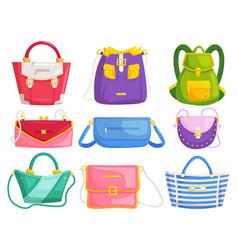 woman handbags modern woman hand bags vector image