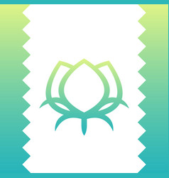 Cotton line icon green logo element on white vector