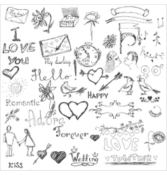 Love Background Elements vector image vector image