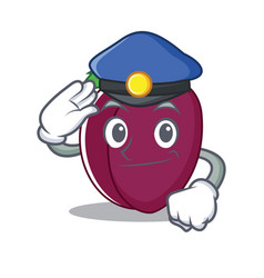 police plum character cartoon style vector image