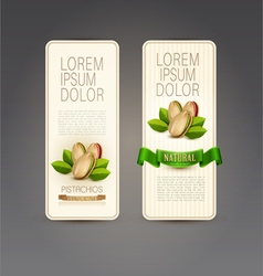 set of labels with pistachios vector image vector image