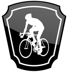 bicyclist emblem vector image vector image