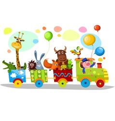 cute train vector image vector image