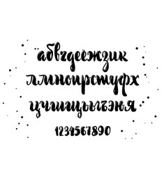cyrillic alphabet a set of lower case letters vector image