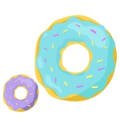 Fast food donuts icon vector image vector image