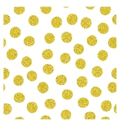 Golden spots seamless pattern vector image vector image