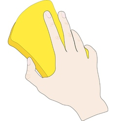 Hand with sponge vector image vector image