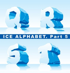 ice alpfabet Part 5 vector image