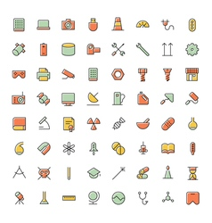 icons for science technology and medical vector image vector image