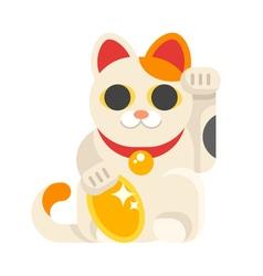 Japanese Lucky Cat Maneki Neko vector image