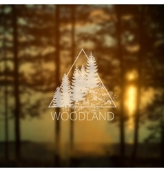 Logo with forest trees vector