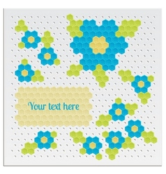 Mosaic Flowers vector image