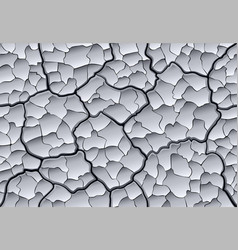 parched cracked clay with layered depth cracks vector image vector image