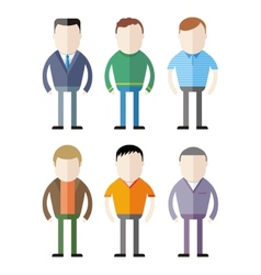 Set of male fashion silhouettes vector image vector image