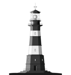 detailed lighthouse - isolated on white vector image