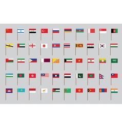 flags of Asia vector image