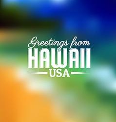 Hawaii Touristic Card vector image vector image