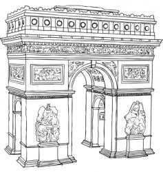Paris Arc de Triomphe vector image vector image