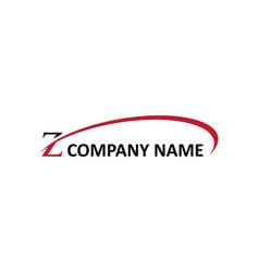 Z letter swoosh logo vector