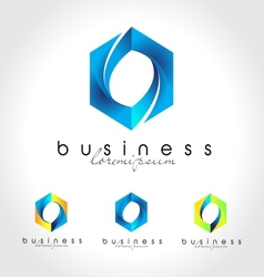 Blue business logo vector image vector image