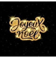 Joyeux Noel lettering Merry Christmas on french vector image