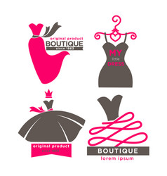 modern fashion boutiques logotypes vector image vector image
