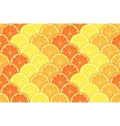 seamless geometric pattern with hand drawn orange vector image vector image