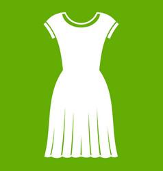 woman dress icon green vector image